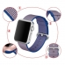 Apple Watch 38mm Woven Nylon Band Strap (Gold Blue) protective carrying case by PDair
