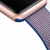 Apple Watch 38mm Woven Nylon Band Strap (Gold Blue) handmade leather case by PDair