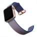 Apple Watch 38mm Woven Nylon Band Strap (Gold Blue) genuine leather case by PDair