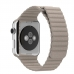 Apple Watch Series 4 44mm Leather Loop Band Strap (Beige) custom degsined carrying case by PDair