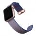 Apple Watch Series 4 44mm Woven Nylon Band Strap (Light Blue) best cellphone case by PDair