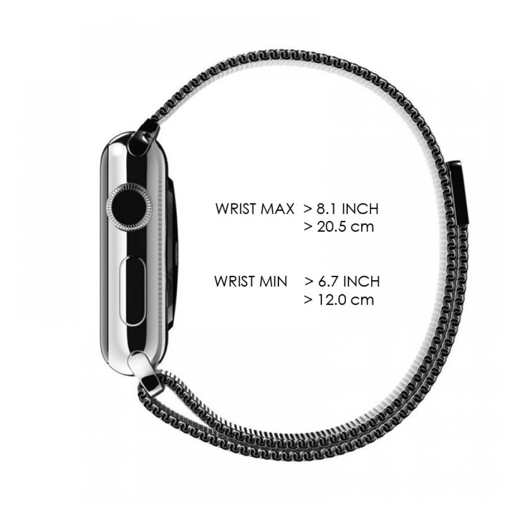 Apple Watch Series 3 42mm Milanese Loop Band Strap (Silver ...