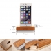 Bamboo Stand Holder for Smartphone, iPhone or Cell Phone handmade leather case by PDair