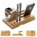Multifunction Bamboo Stand Holder for Apple Watch, iPhone and Tablet protective carrying case by PDair