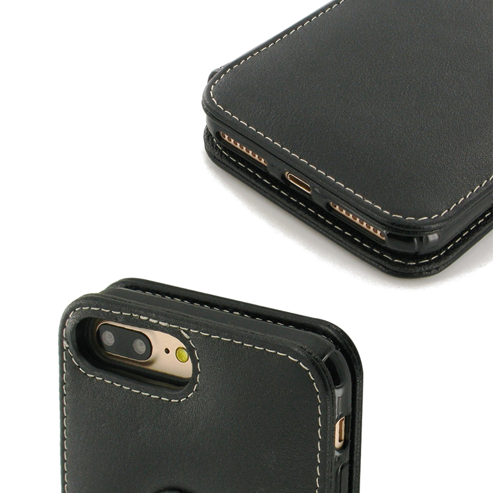 iphone 7 plus leather flip case cover pdair sleeve. Black Bedroom Furniture Sets. Home Design Ideas