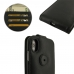 iPhone XS Max Leather Flip Top Wallet Case (Black Stitch) top quality leather case by PDair
