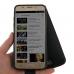Samsung Galaxy J5 (2016) Leather Flip Wallet Case (Orange Stitch) genuine leather case by PDair