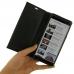 Samsung Galaxy Note 9 Leather Smart Flip Wallet Case (Black Stitch) genuine leather case by PDair