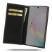Samsung Galaxy Note 10 Plus Leather Folio Flip Wallet Case is handcrafted from superfine full grain leather and offers a slim book stand design. This wallet case with pockets, gives you the freedom to carry your device and cards together with the provided