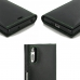 Sony Xperia XZ Dual Leather Smart Flip Wallet Case (Green Stitch) top quality leather case by PDair