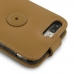 iPhone 7 Plus Leather Flip Top Wallet Case (Tan) custom degsined carrying case by PDair