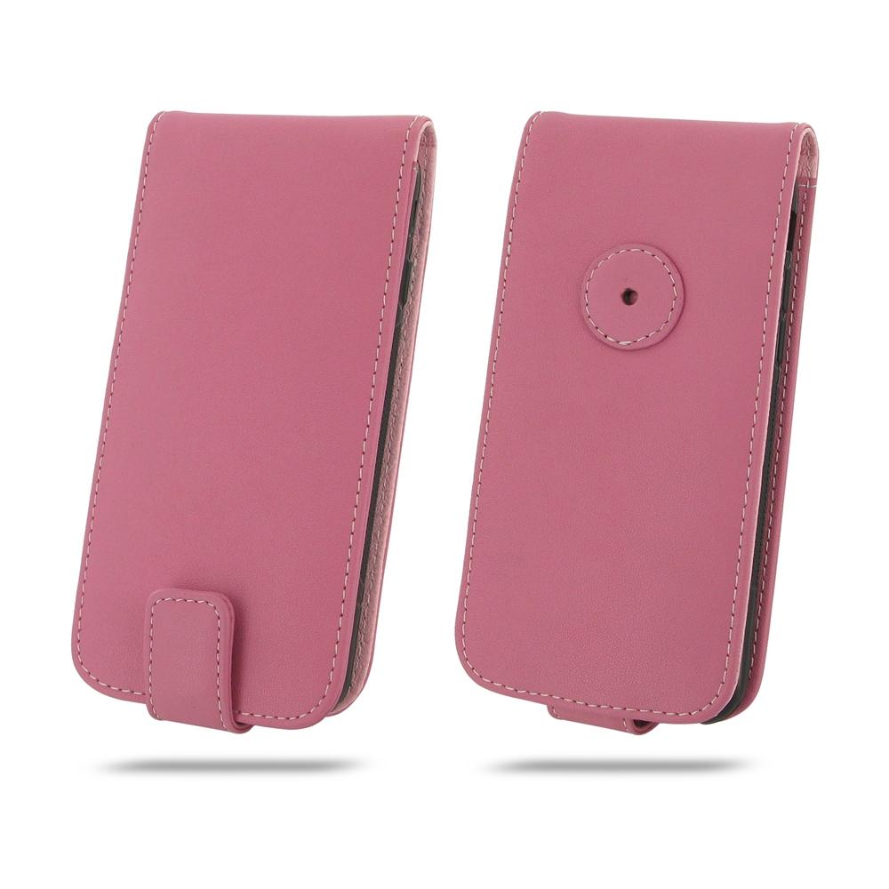 iphone 7 leather flip wallet case petal pink pdair. Black Bedroom Furniture Sets. Home Design Ideas