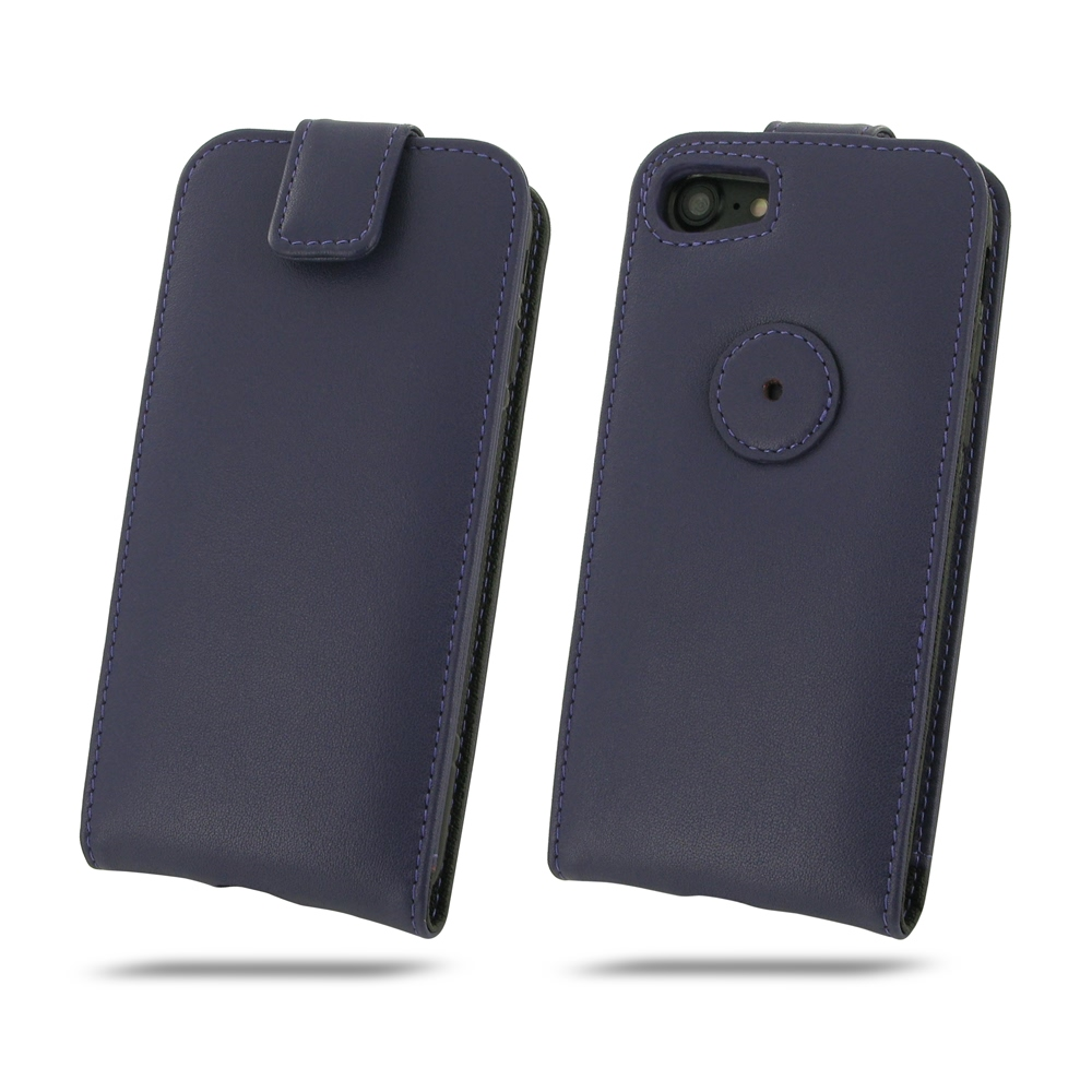 iphone 7 leather flip top wallet case purple pdair. Black Bedroom Furniture Sets. Home Design Ideas
