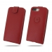 iPhone 7 Plus Leather Flip Top Wallet Case (Red) protective carrying case by PDair