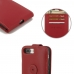 iPhone 7 Plus Leather Flip Top Wallet Case (Red) top quality leather case by PDair