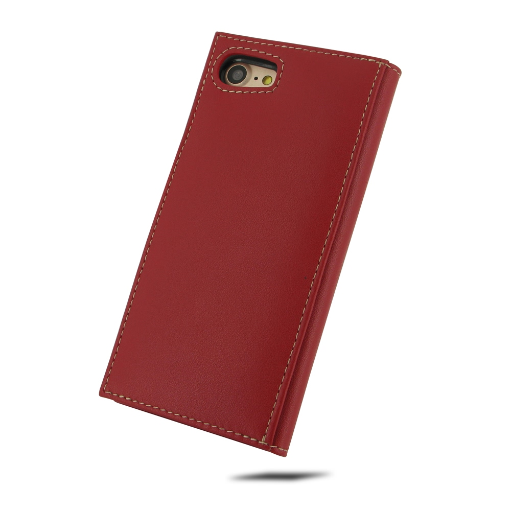 iphone 7 leather smart flip wallet case red pdair. Black Bedroom Furniture Sets. Home Design Ideas