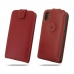 iPhone XS Leather Flip Top Wallet Case (Red) protective carrying case by PDair