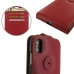 iPhone XS Leather Flip Top Wallet Case (Red) top quality leather case by PDair