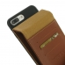 iPhone 7 Plus Leather Flip Wallet Case (Brown) custom degsined carrying case by PDair