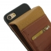 iPhone 7 Leather Flip Wallet Case (Brown) custom degsined carrying case by PDair