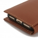 iPhone 8 Leather Smart Flip Wallet Case (Brown) custom degsined carrying case by PDair