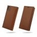 iPhone X Leather Smart Flip Wallet Case (Brown Pebble Leather) protective carrying case by PDair