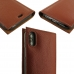 iPhone X Leather Smart Flip Wallet Case (Brown Pebble Leather) handmade leather case by PDair