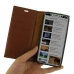 iPhone X Leather Smart Flip Wallet Case (Brown Pebble Leather) genuine leather case by PDair