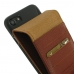 iPhone 7 Leather Flip Wallet Case (Brown Pebble Leather) custom degsined carrying case by PDair