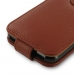 iPhone 7 Leather Flip Wallet Case (Brown Pebble Leather) best cellphone case by PDair