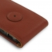 iPhone 8 Leather Flip Case (Brown Pebble Leather) offers worldwide free shipping by PDair