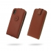 iPhone XS Leather Flip Top Wallet Case (Brown Pebble Leather) protective carrying case by PDair