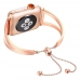 Bracelets Pendant Metal Hollow Wrist Strap for Apple Watch Series 2 38mm (Rose Gold)