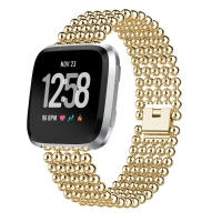 Apple Watch Series 5 | Series 4 40mm Bracelet Genuine Five Round Beads Alloy Watch Band Wrist Strap (Gold) is designed to wear fashionable look to your device. Handmade Fashion Alloy solid with interlock clasp design, make your smartwatch looks special an