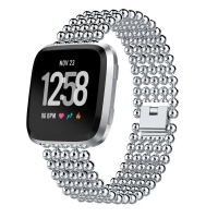 Bracelet Genuine Five Round Beads Alloy Watch Band Wrist Strap for Apple Watch Series 1 38mm (Silver)