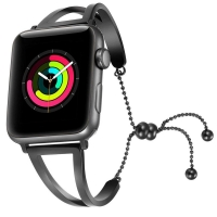 Apple Watch Series 5 | Series 4 40mm Bracelets Pendant Metal Hollow Wrist Strap (Black) is designed to wear fashionable look to your device. Handmade Fashion Alloy solid with interlock clasp design, make your smartwatch looks special and nice. Contracted