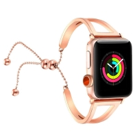Apple Watch Series 5 | Series 4 40mm Bracelets Pendant Metal Hollow Wrist Strap (Rose Gold) is designed to wear fashionable look to your device. Handmade Fashion Alloy solid with interlock clasp design, make your smartwatch looks special and nice. Contrac