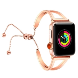 Apple Watch Series 5 | Series 4 44mm Bracelets Pendant Metal Hollow Wrist Strap (Rose Gold) is designed to wear fashionable look to your device. Handmade Fashion Alloy solid with interlock clasp design, make your smartwatch looks special and nice. Contrac