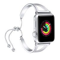 Bracelets Pendant Metal Hollow Wrist Strap for Apple Watch Series 1 38mm (Silver)
