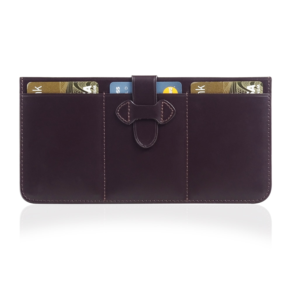 Leather British Bridle Wallet Card Holder (Brown) PDair Premium Hadmade Genuine Leather Protective Case Sleeve Wallet