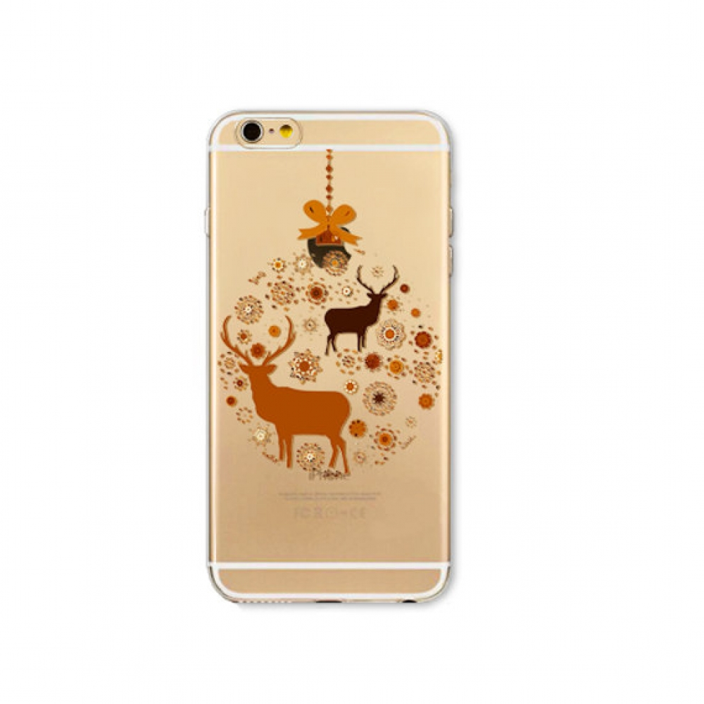 10% OFF + FREE SHIPPING, Buy PDair iPhone Soft Clear Case (Brown Reindeer Snowflakes Deer Snow Christmas) which is available for iPhone 5 | iPhone 5s SE 6 6s, 6 6s plus. You also can go to the customizer to create your own stylish leather case if looking