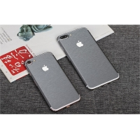 Brushed Aluminum Surface iPhone 7 | iPhone 7 Plus Decal Wrap Skin Set (Grey)