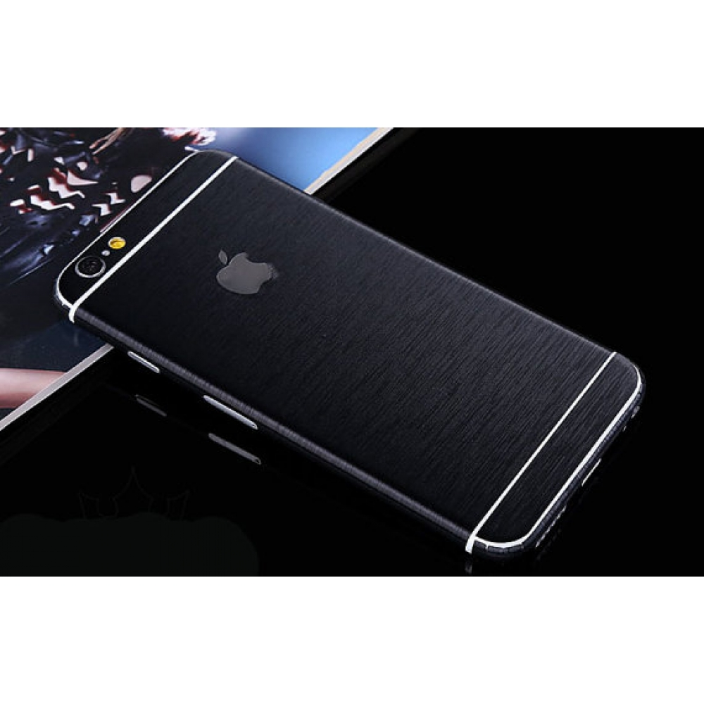 10% OFF + FREE SHIPPING, Buy PDair Brushed Aluminum Surface iPhone Decal Wrap Skin Set (Black) which is available for iPhone 5 | iPhone 5s SE 6 6s, iPhone 6 Plus | iPhone 6s Plus. You also can go to the customizer to create your own stylish leather case i