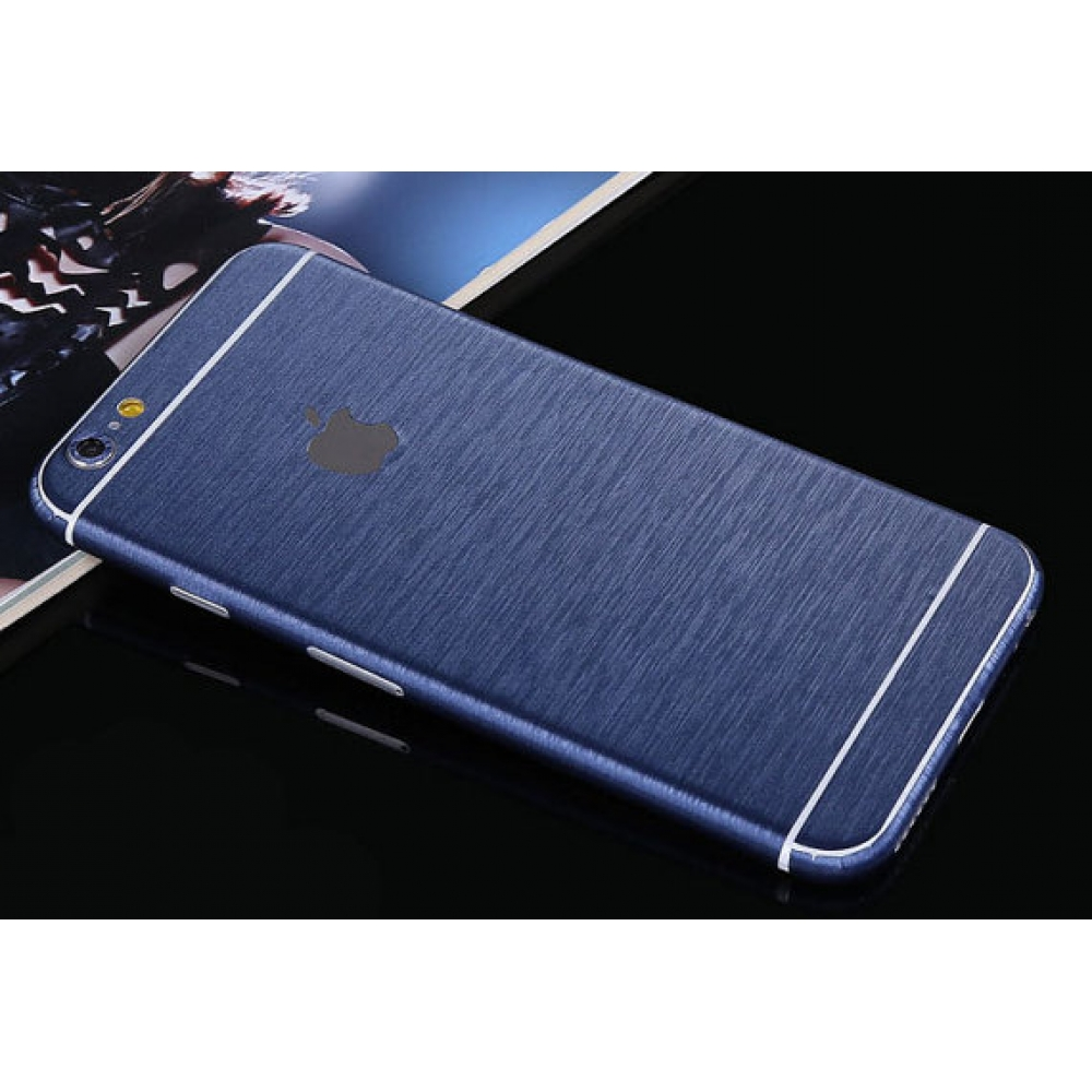 10% OFF + FREE SHIPPING, Buy PDair Brushed Aluminum Surface iPhone Decal Wrap Skin Set Blue which is available for iPhone 6 | iPhone 6s, iPhone 6 Plus | iPhone 6s Plus, iPhone 5 | iPhone 5s SE You also can go to the customizer to create your own stylish l