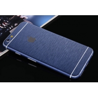 Brushed Aluminum Surface iPhone 6s 6 Plus Decal Wrap Skin Set (Blue)