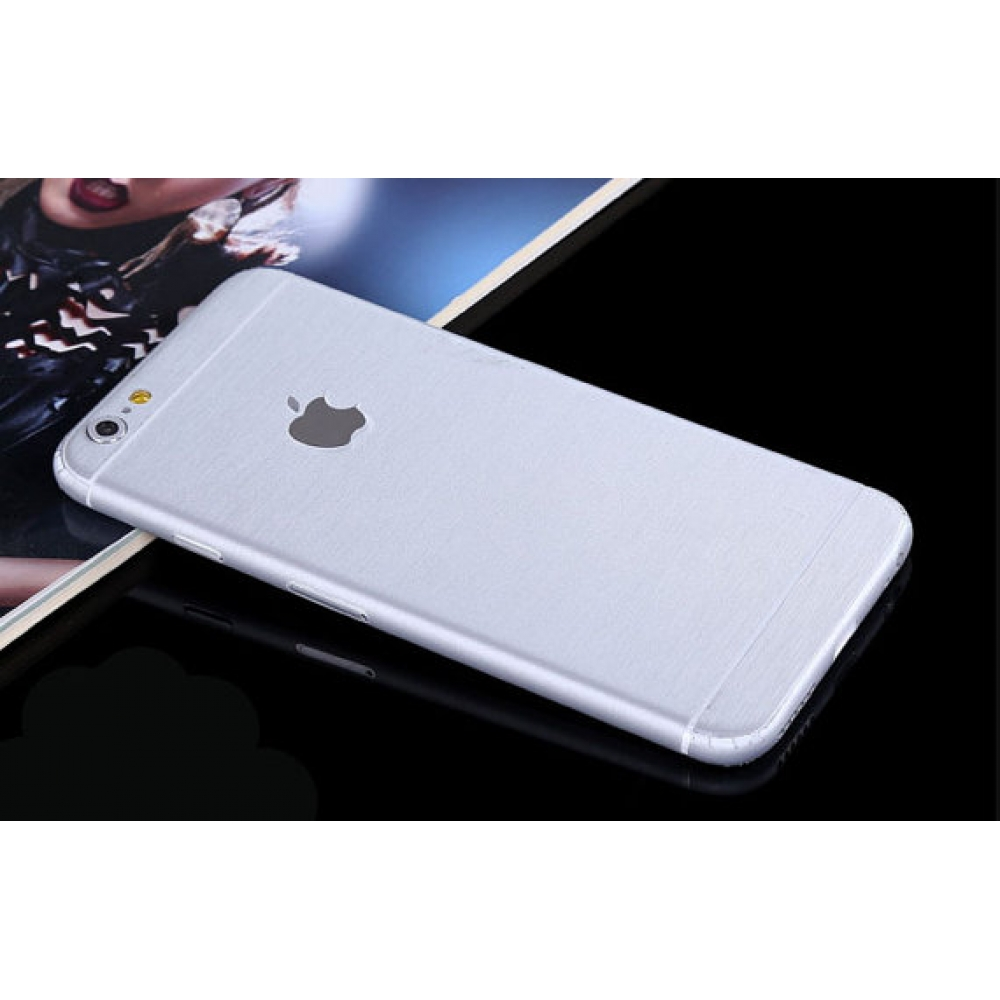 10% OFF + FREE SHIPPING, Buy PDair Brushed Aluminum Surface iPhone Decal Wrap Skin Set Silver which is available for iPhone 5 | iPhone 5s SE 6 6s, iPhone 6 Plus | iPhone 6s Plus. You also can go to the customizer to create your own stylish leather case if
