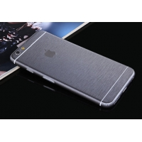 Brushed Aluminum Surface iPhone 6s 6 Plus Decal Wrap Skin Set (Silver Grey)