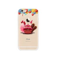 Cake Balloon Happy Birthday iPhone 6s 6 Plus SE 5s 5 Pattern Printed Soft Case