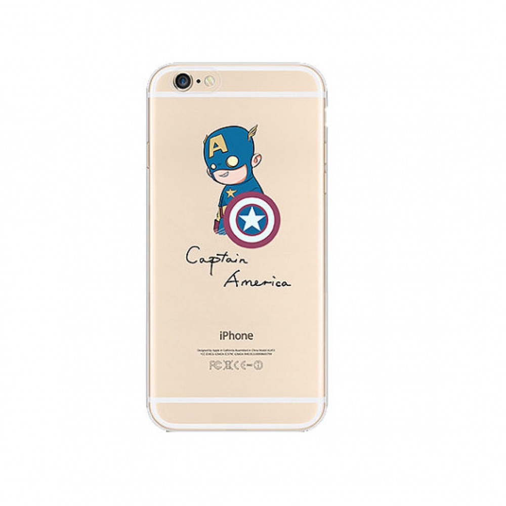 10% OFF + FREE SHIPPING, Buy PDair iPhone Pattern Printed Soft Clear Case (Captain America) which is available for iPhone 6 | iPhone 6s, iPhone 6 Plus | iPhone 6s Plus, iPhone 5 | iPhone 5s SE You also can go to the customizer to create your own stylish l