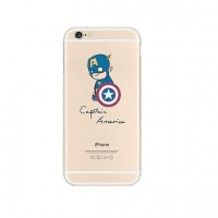 Captain America iPhone 6s 6 Plus SE 5s 5 Pattern Printed Soft Case